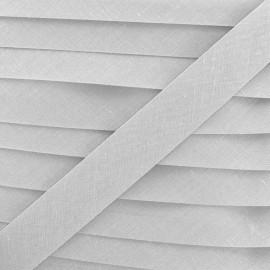 Multi-purpose-fabric Bias binding 20mm - pearl grey x 1m