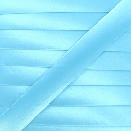 Biais satin 20 mm - bleu givré x 1m