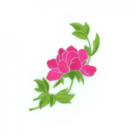 Thermocollant brodé Fleur des îles - rose