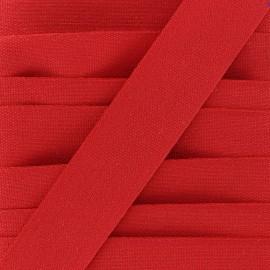 Galon tissé coton - rouge x 1m