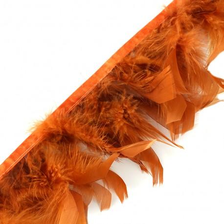 Feather braid 10cm - fauve x 50cm