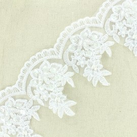Broderie perles Deluxe - blanc x 50cm