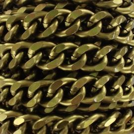 Mesh chain 19mm - bronze x 50cm