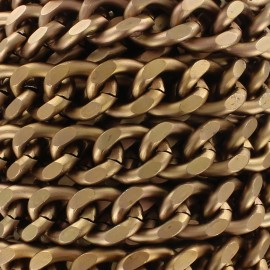Mesh chain 19mm - copper x 50cm