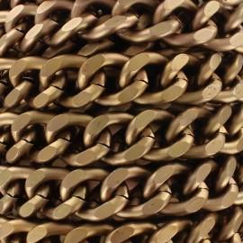 Mesh chain 19mm - copper x 50cm