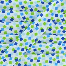 Biais Funny cubes - bleu x 1m