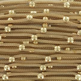 Chaîne fantaisie doublée - doré x 25cm