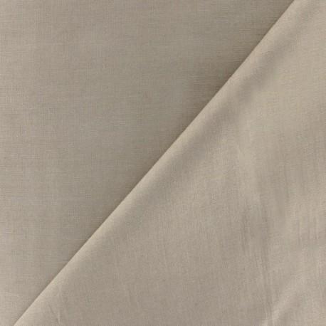 Cotton Veil Fabric - Dark Beige x 10cm