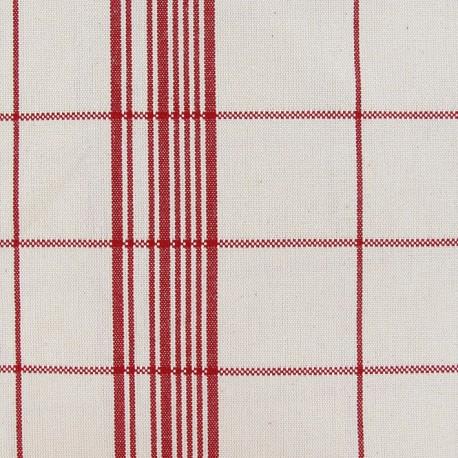 Rondelette canvas fabric carreaux - red x 10cm