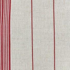 Rondelette canvas fabric - red classic stripe x 10cm