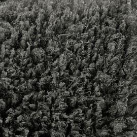 Fourrure poil long frisé 4 cm - gris anthracite x 10cm