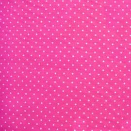 Tissu enduit coton Mini Pois - fuchsia x 10cm