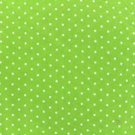 Tissu Jersey Poppy Little Dots - blanc/vert x 10cm