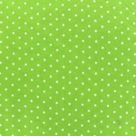 Poppy jersey fabric Little Dots - white/green x 10cm