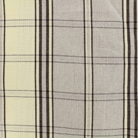 Rondelette canvas fabric - grey check x 10cm