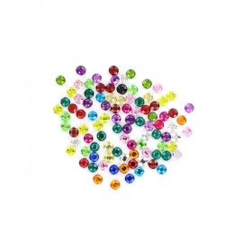 Strass rond à coudre India (lot de 100) - multi