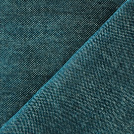 Tissu jacquard velours Naos - paon x 10cm