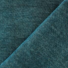 Velvet jacquard fabric Naos - teal x 10cm