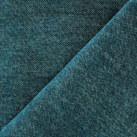 Velvet jacquard Oeko-tex fabric Naos - teal x 10cm