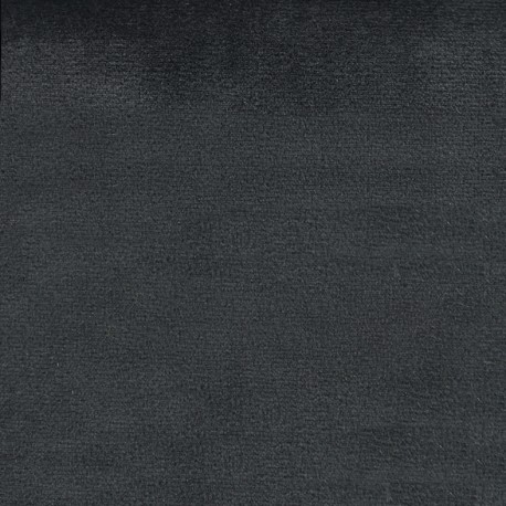 Brunei velvet fabric - anthracite x 10cm
