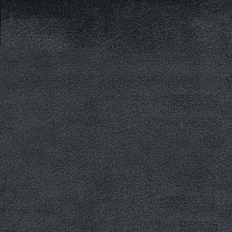 Tissu velours Brunei - gris anthracite x 10cm