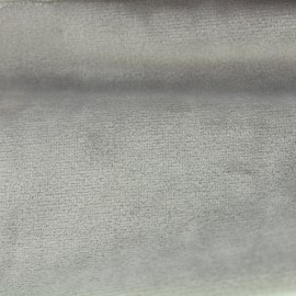 Brunei velvet fabric - pearl grey x 10cm