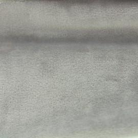 Tissu velours Brunei - gris perle x 10cm