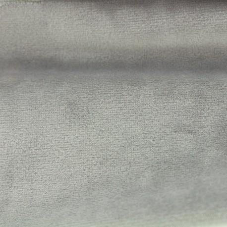 Brunei velvet fabric - pearl grey x 10cm