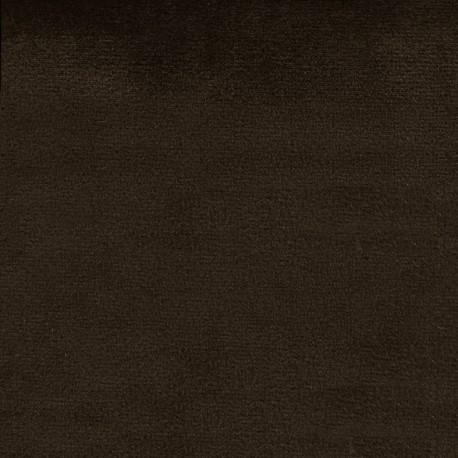 Brunei velvet fabric - brown x 10cm