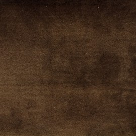 Tissu velours Brunei - marron clair x 10cm