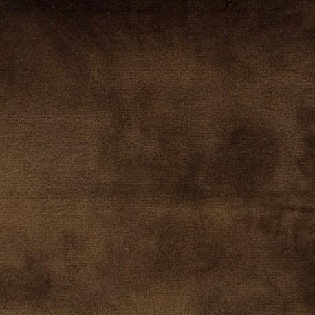 Brunei velvet fabric - light brown x 10cm