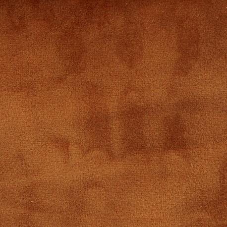 Brunei velvet fabric - terracotta x 10cm