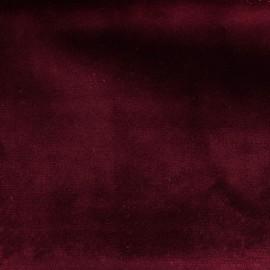 Brunei velvet fabric - lie de vin x 10cm