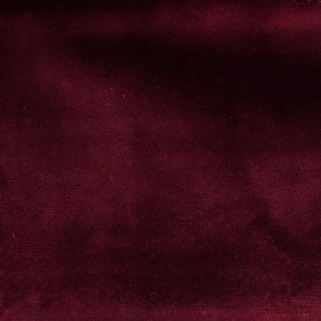 Tissu velours Brunei - lie de vin x 10cm