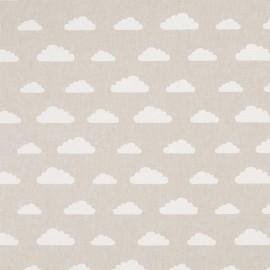 Cotton canvas linen look fabric - Cloud x 20cm