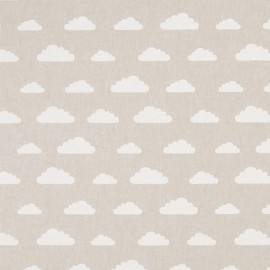 Tissu toile coton aspect lin - Cloud x 20cm