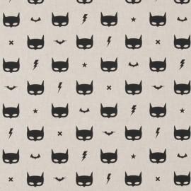 Cotton canvas linen look fabric - Mask x 20cm