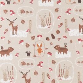 Tissu toile coton aspect lin - Sweet Christmas x 64cm