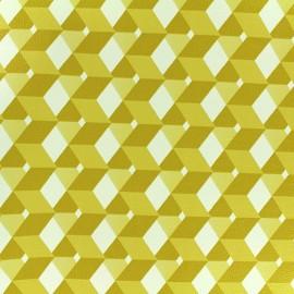 Simili cuir Plazza - jaune x 10cm
