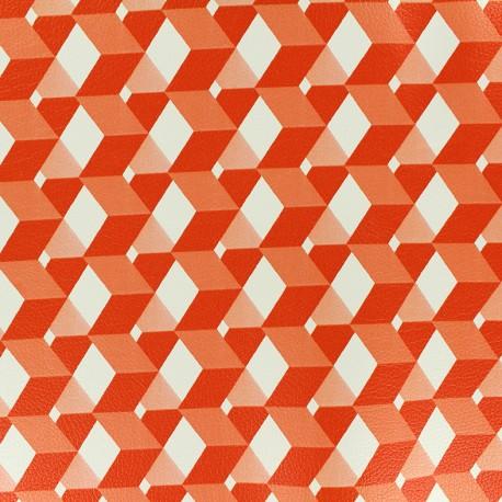 Imitation leather Plazza - orange x 10cm