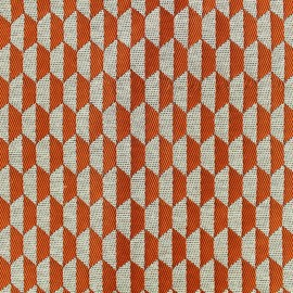 Tissu jacquard tissé Otto - orange x 10cm