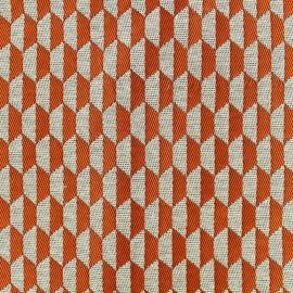 Woven jacquard canvas Otto - orange x 10cm