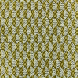 Tissu jacquard tissé Otto - jaune x 10cm