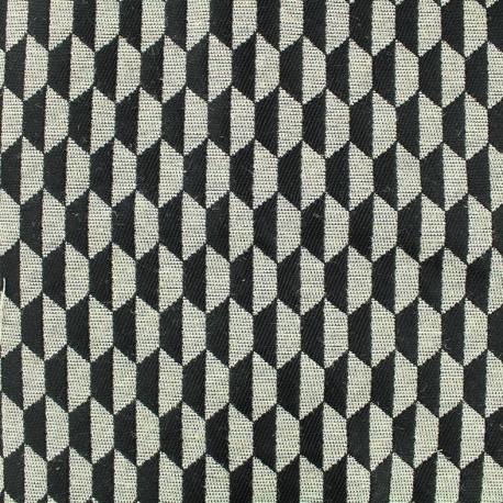 Tissu jacquard tissé Otto - noir x 10cm