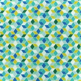 Tissu coton Nano - turquoise x 10cm