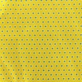 Cretonne cotton Fabric Saki - yellow x 10 cm