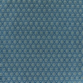 Cretonne cotton Fabric Saki - petrol x 10 cm