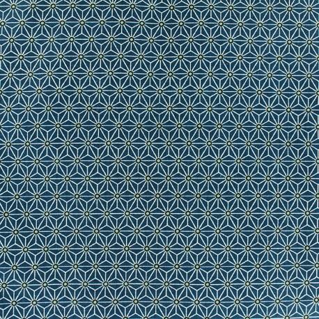 Cretonne cotton Fabric Saki - petrol x 10 cm