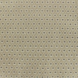 Cretonne cotton Fabric Saki - new taupe x 10 cm