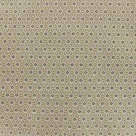 Tissu coton crétonne Saki - new taupe x 10cm
